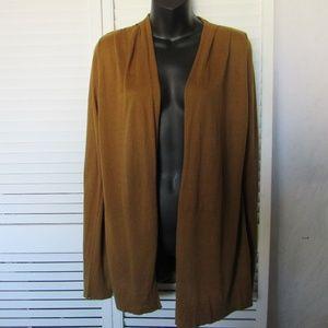 Gap gold taupe cardigan medium